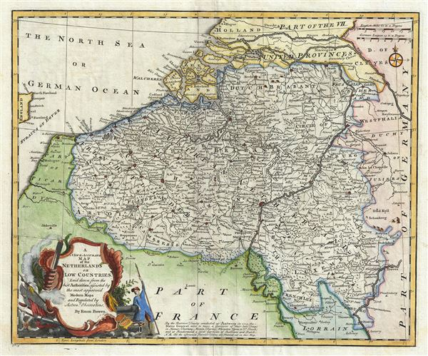 A New and Accurate Map of the Netherlands or Low Countries. - Main View