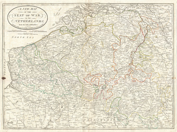A New Map of the Seat of War, in the Netherlands, from the best Authorities. - Main View