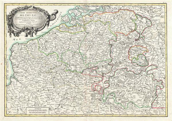 Partie Meridionale Des Pays Bas, Comprenant les Provinces de Brabant, Gueldre, Limbourg, Luxembourg, Haynaut, Namur, Flandre, Cambresis et Artois. - Main View