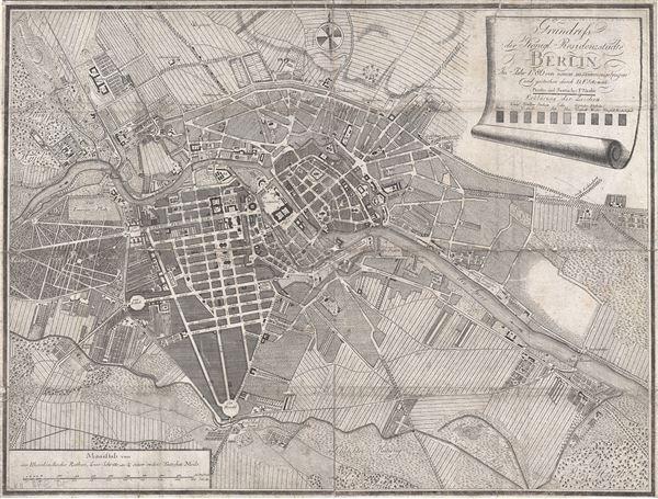 Grundriss der Königl. Residenzstädte Berlin im Jahre 1786 von neuen zusammengetragen und gestochen durch D. F. Sotzmann.