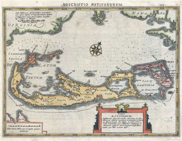Mappa Aestivarum Insularum Alias Bermudas Dictarum ad Ostia Mexicane … - Main View
