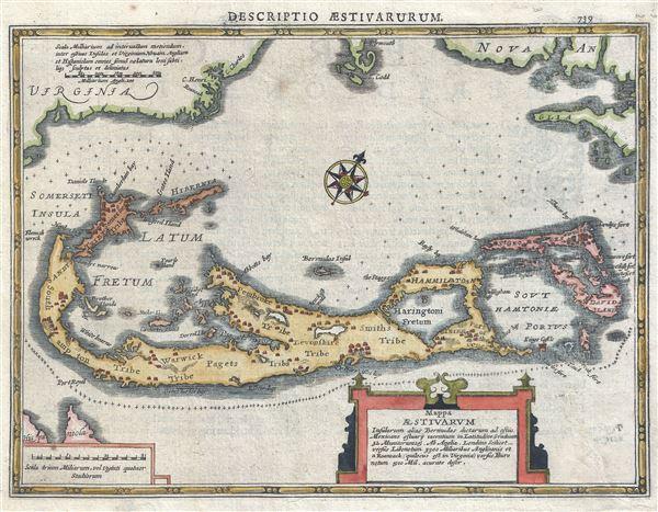 Mappa Aestivarum Insularum Alias Bermudas Dictarum ad Ostia Mexicane …