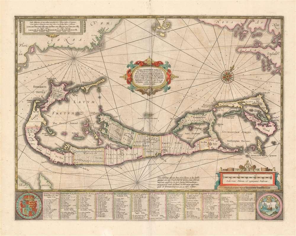 Mappa Aestivarvm Insularum, alias Barmudas. - Main View