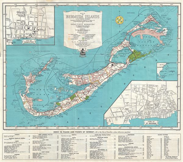 Map of The Bermuda Islands Alias Somers Islands. - Main View