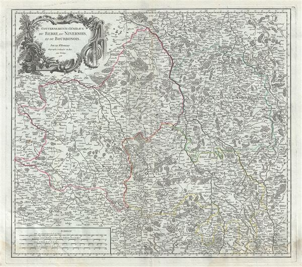 Gouvernemens Generaux du Berry, du Nivernois, et du Bourbonois. - Main View