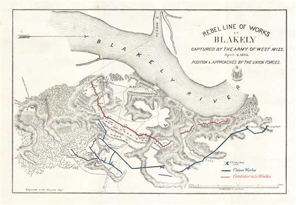Rebel Line of Works at Blakely Captured by the Army of West Miss. April 9, 1865. - Main View