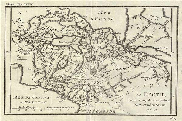 La Beotie Pour le Voyage du Jeune Anacharsis.
