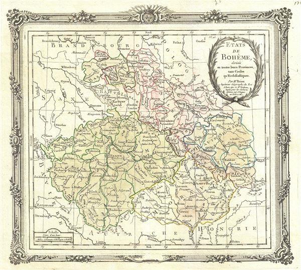 Etats de Boheme, divises en toutes leurs Provinces, tant Civiles qu Ecclesiastiques.