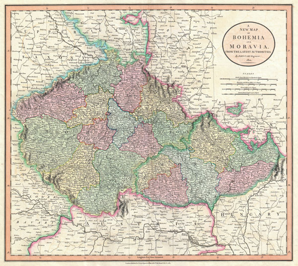 A New Map of Bohemia and Moravia, from the Latest Authorities. - Main View