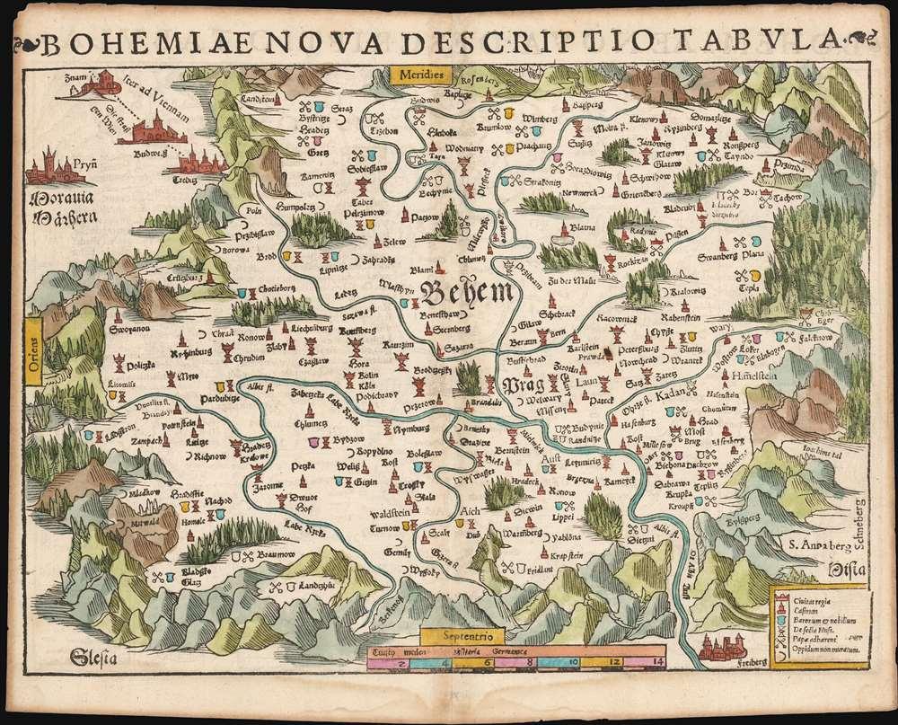 Bohemiae Nova Descriptio Tabula. - Main View