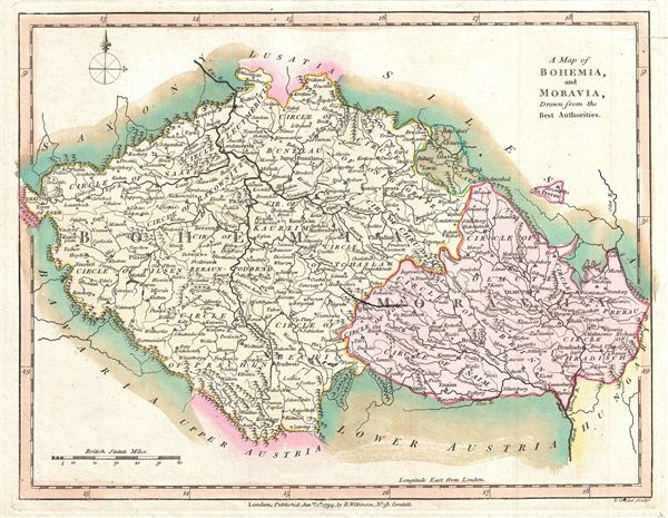 A Map of Bohemia and Moravia, Drawn from the Best Authorities.