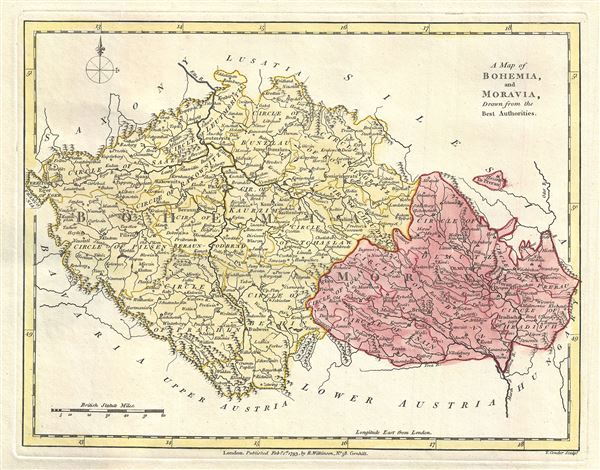 A Map of Bohemia, and Moravia, Drawn from the Best Authorities.
