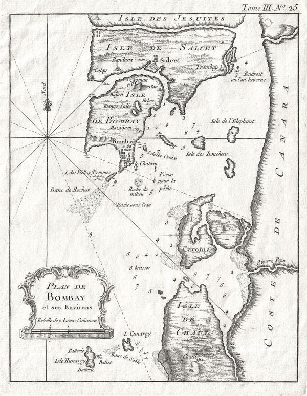 Plan de Bombay et ses Environs.