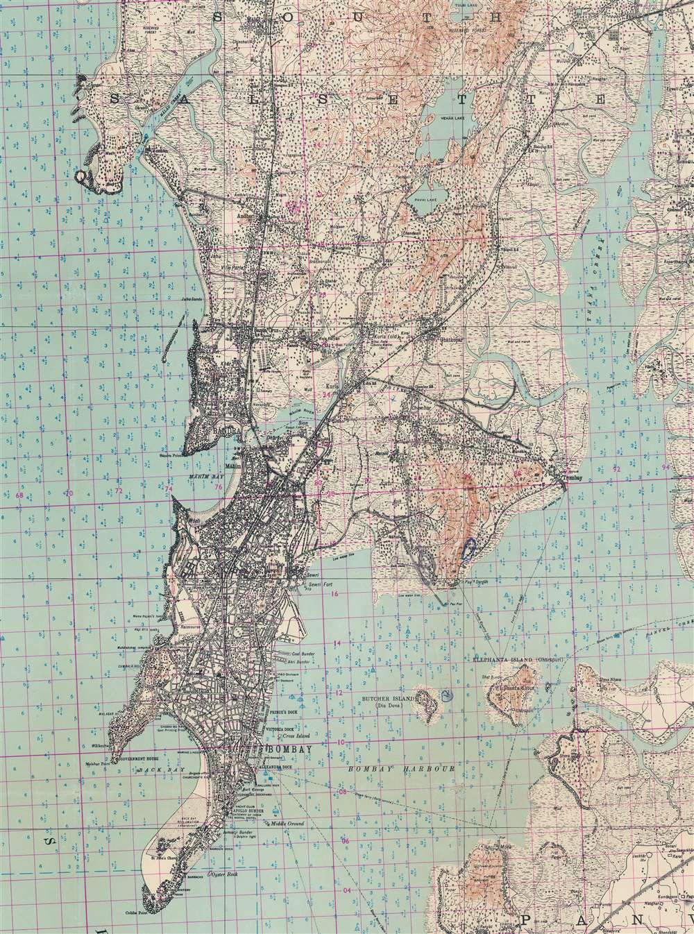Bombay and Surrounding Country. - Alternate View 2
