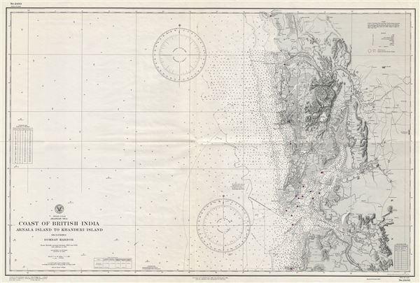 Indian Ocean Arabian Sea Coast of British India Arnala Island to Khanderi Island including Bombay Harbor.