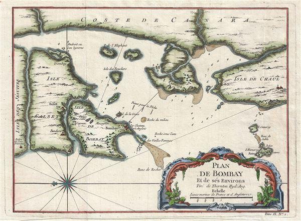 Plan De Bombay et de Ses Environs, Tire de Thornton Hyd. Ang.