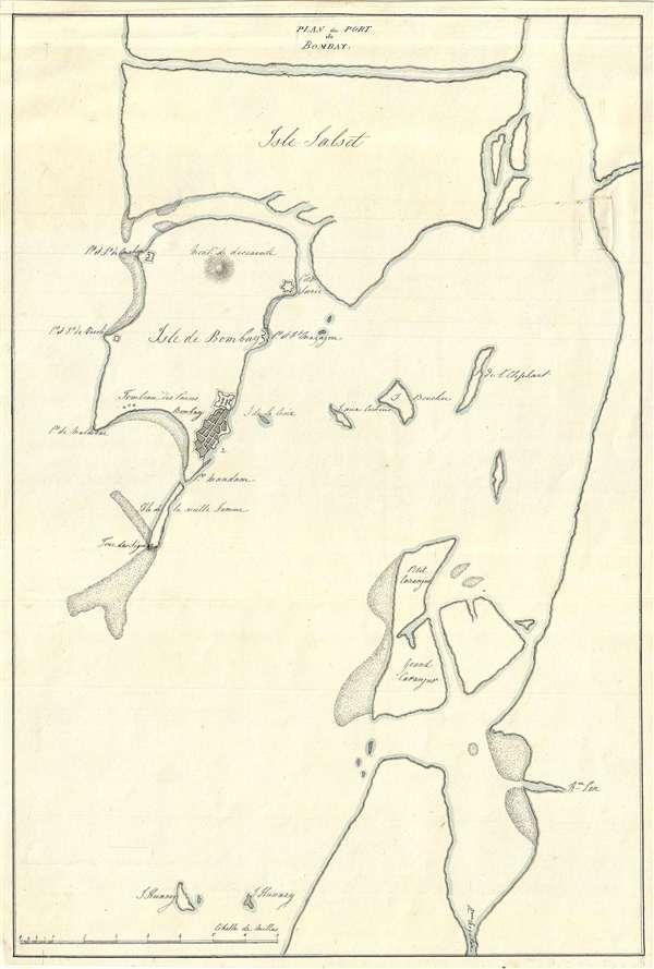 Plan du Port de Bombay.