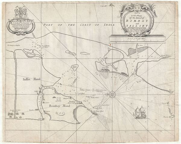 A New Mapp of the Island of Bombay and Sallset. - Main View