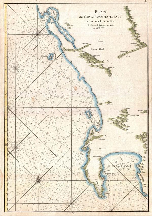 Plan du Cap de Bonne-Esperance et de ses Environs.