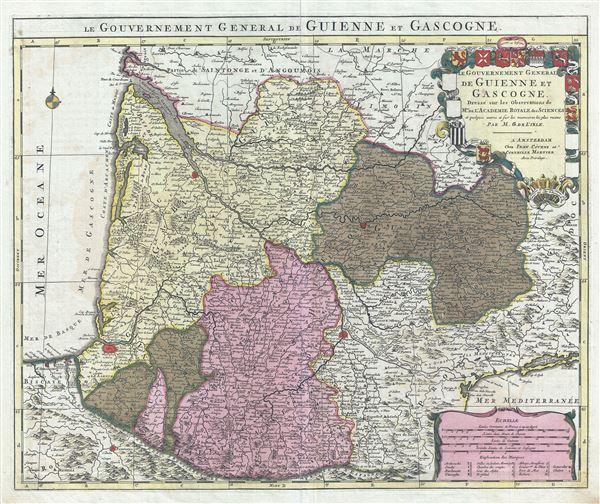 Le Gouvernement General de Guienne et Gascogne.