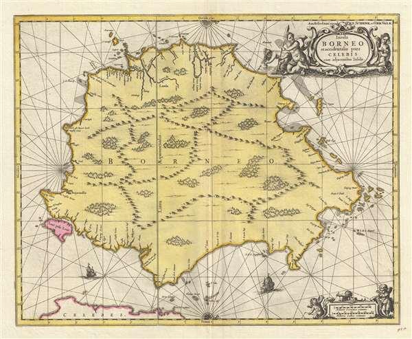 Insula BORNEO et occidentalis pars CELEBIS cum adjacentibus Infulis.