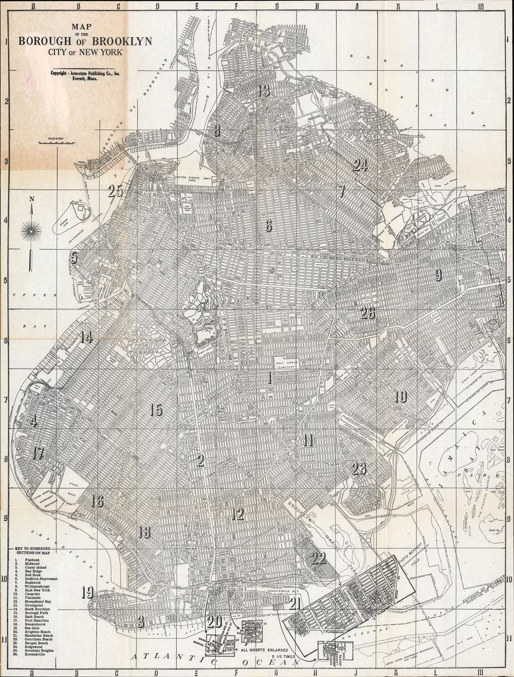 Map of the Borough of Brooklyn City of New York. - Main View