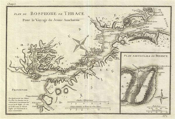 Plan du Bosphore de Thrace Pour le Voyage du Jeune Anacharsis.