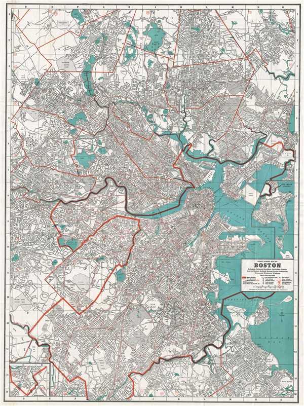 Cram's Street Map of Boston.