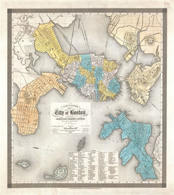 A New and Complete Map of the City of Boston, with part of Charleston, Cambridge and Roxbury. - Main View