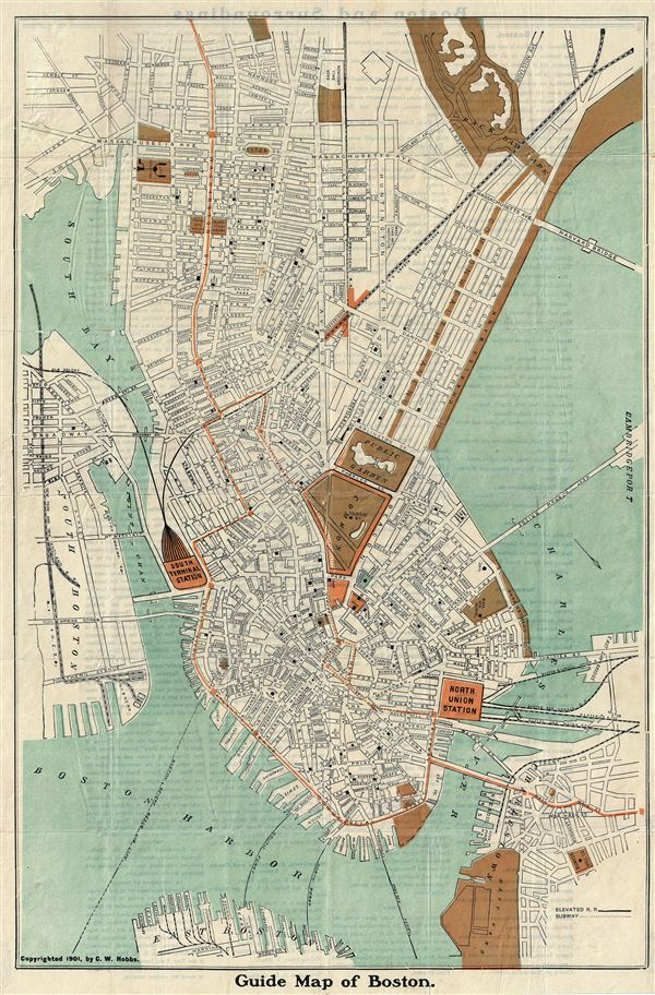 Guide Map of Boston. - Main View