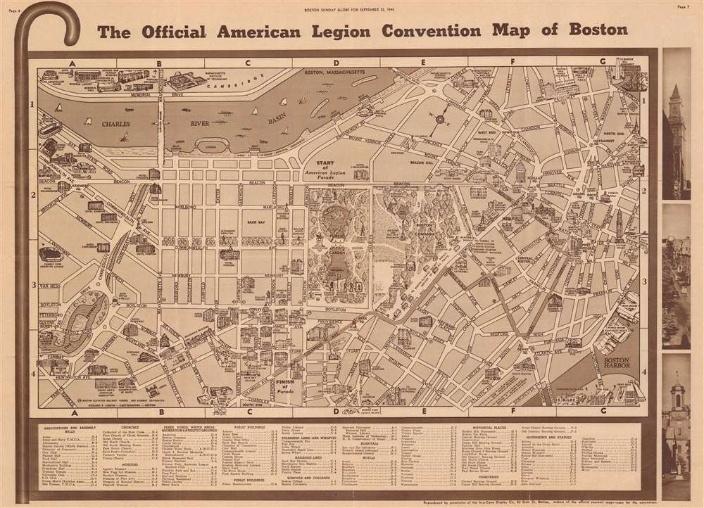 The Official American Legion Convention Map of Boston. - Main View