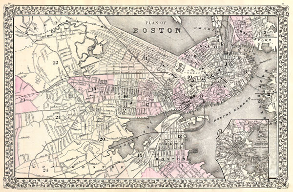 Plan of Boston. - Main View