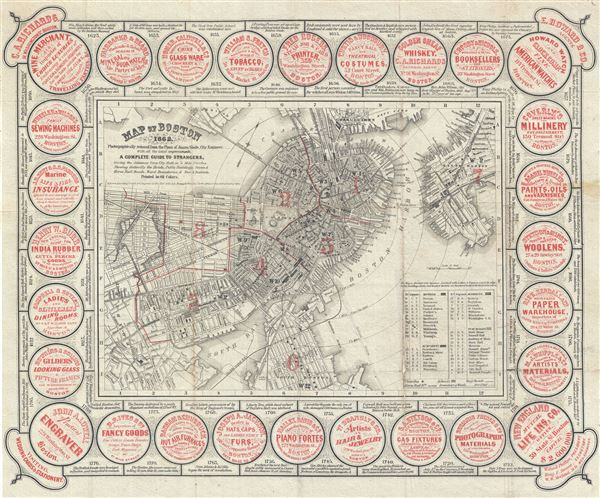 Map of Boston 1862.