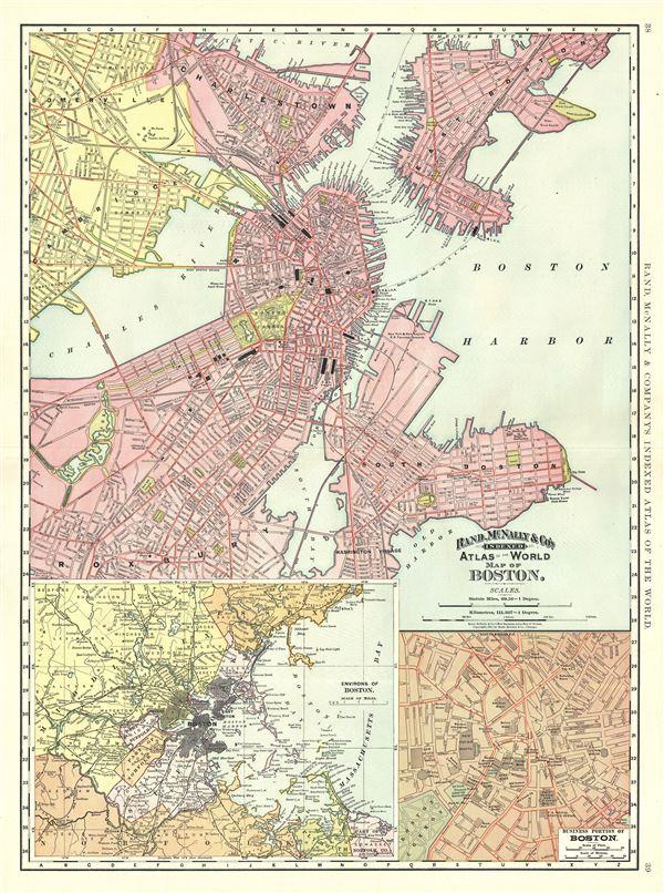 Map of Boston. - Main View