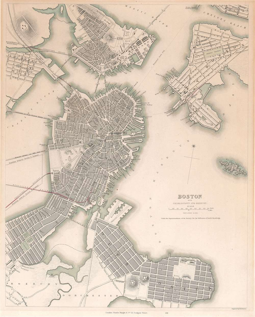 Boston with Charlestown and Roxbury. - Main View
