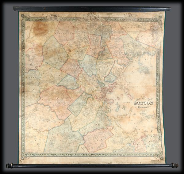 Map of the City and Vicinity of Boston, Massachusetts. - Main View