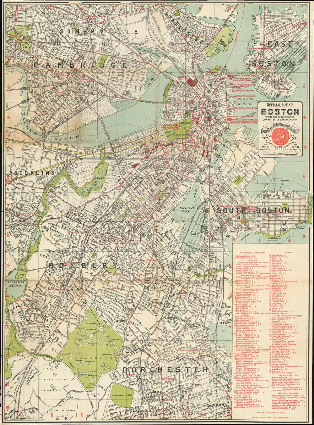 Official Map of Boston. - Main View