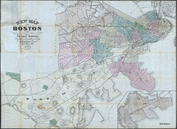 New Map of Boston compiled from the latest Surveys. - Main View