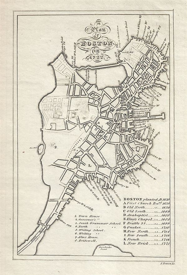 A Plan of Boston in 1722.