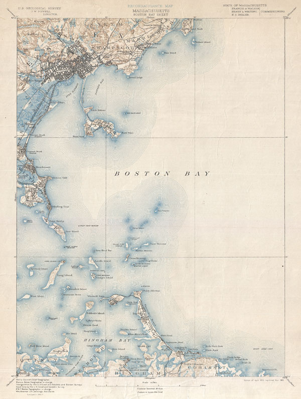 Massachusetts Boston Bay Sheet. - Main View