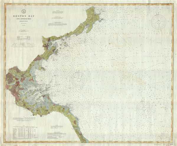 Boston Bay and Approaches Massachusetts. - Main View