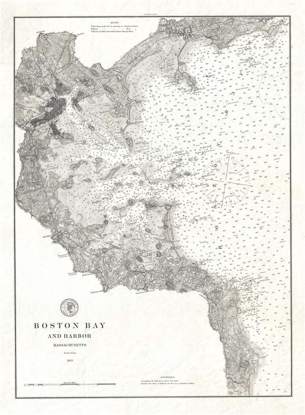 Boston Bay And Harbor Massachusetts Geographicus Rare Antique Maps - Boston-on-a-us-map