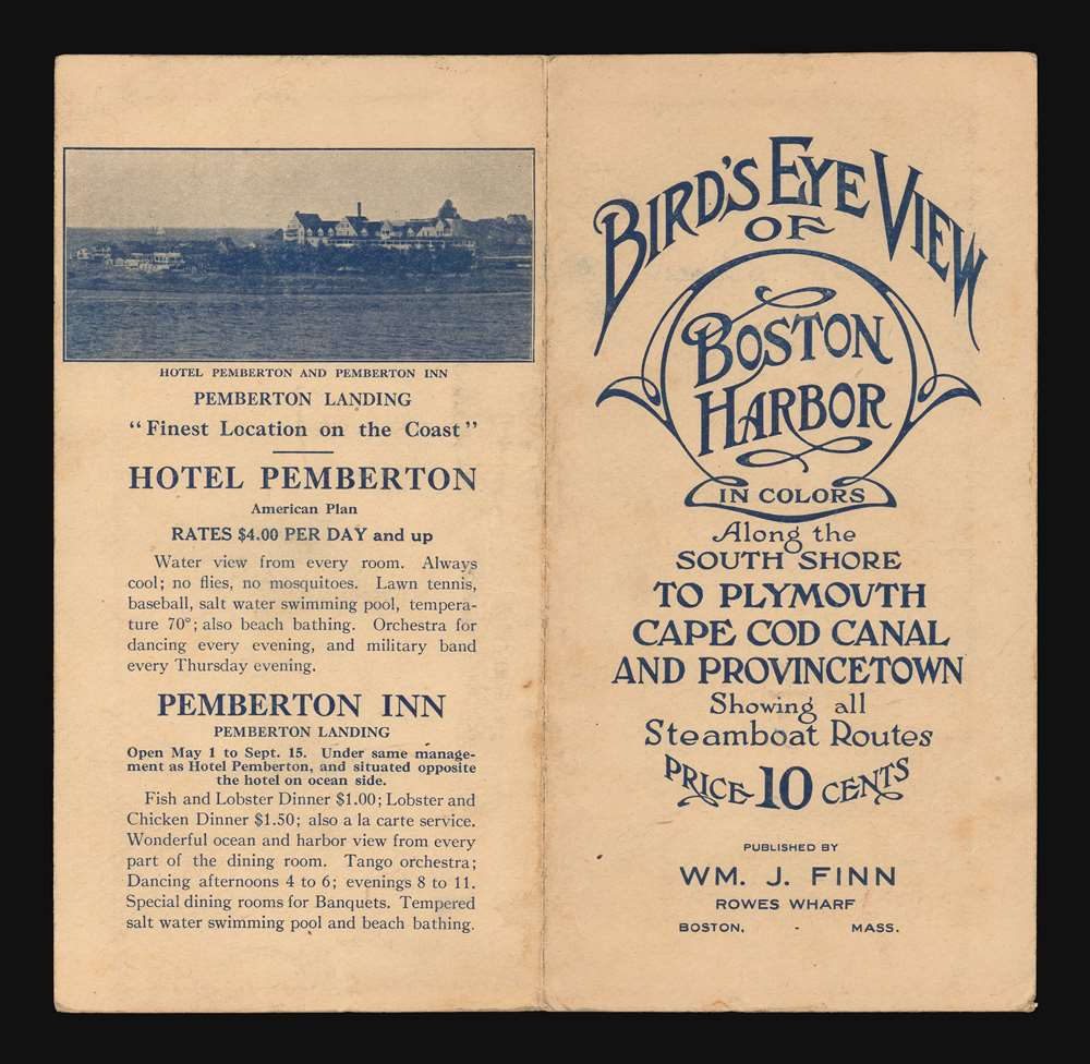 Bird's Eye  View of Boston Harbor along the South Shore to Provincetown. - Alternate View 1