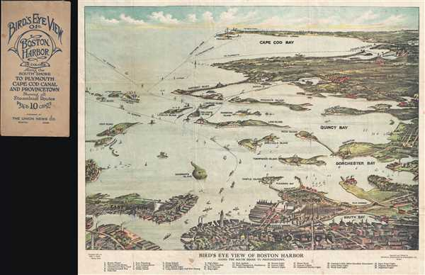 1917 Finn View Map of Boston Harbor and Cape Cod, Massachusetts