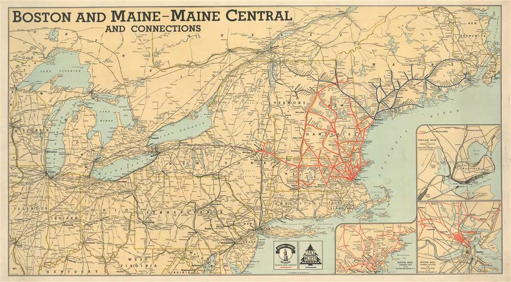 Boston and Maine - Maine Central and Connections. - Main View