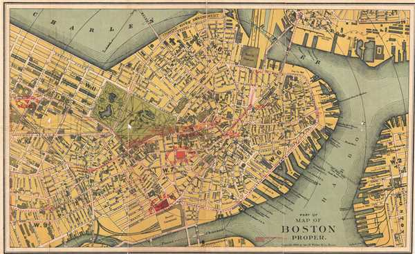 Part of Map of Boston Proper. - Main View