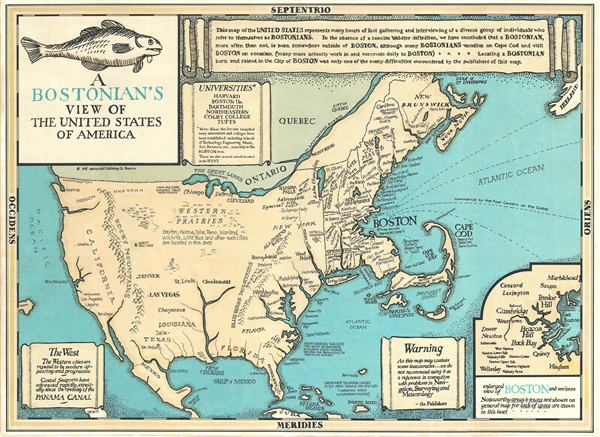 A Bostonian's View of the United States of America. - Main View