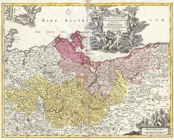 Tabula Marchionatus Brandenburgici et Ducatus Pomeraniae  quae sunt Pars Septentrionalis Circuli Saxoniae Superioris…