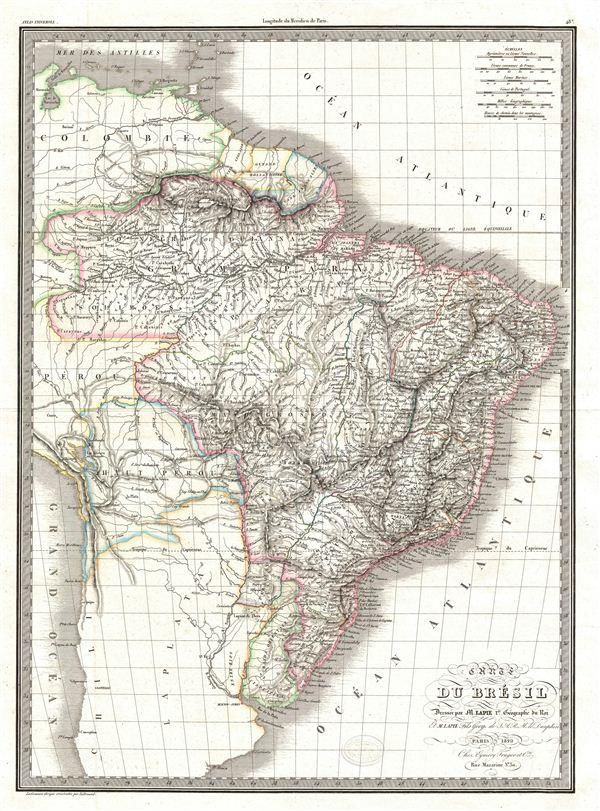 Carte du Bresil.