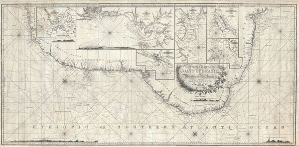A New Chart of the Coast of Brazil from Maranham to Rio Janeiro. - Main View